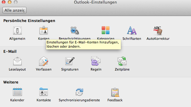 Screenshot Exchange einbinden in Apple Outlook 2011 02.png