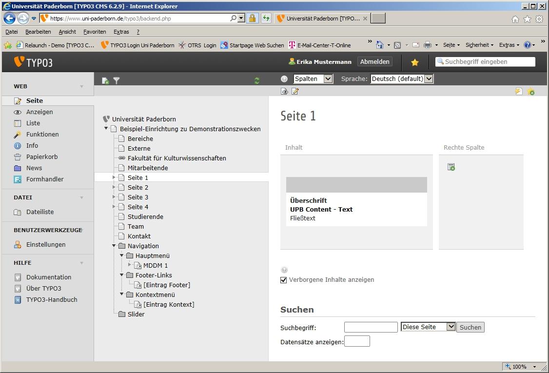 TYPO3 Kontextmenü und Footerlinks einfügen (Fortgeschritten) – IMT ...