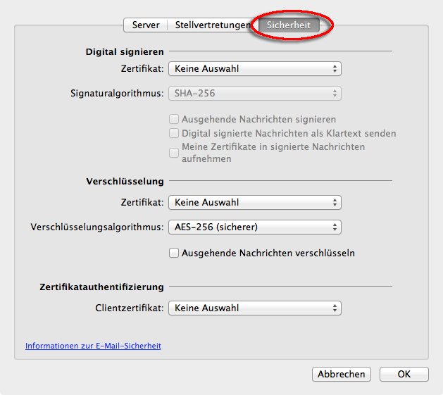 E-Mail SSL-Zertifikate einbinden in Outlook 2011 (OS X 10.7) – IMT ...