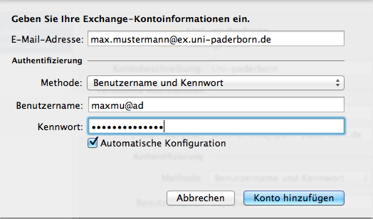 Screenshot Exchange einbinden in Apple Outlook 2011 04.png