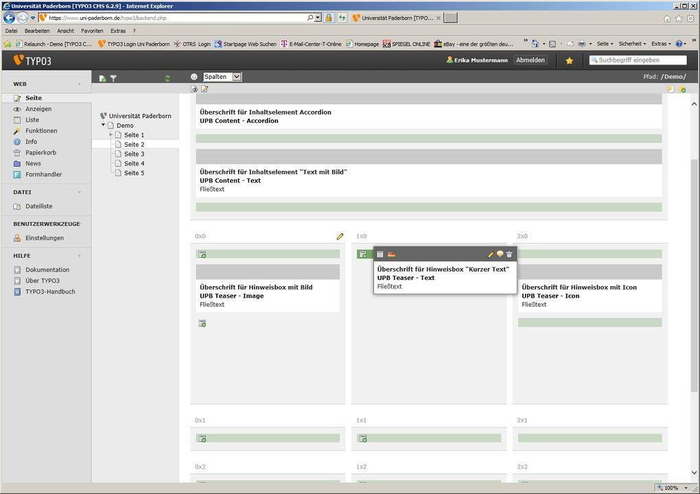 TYPO3 Inhaltselemente verschieben – IMT:HilfeWiki