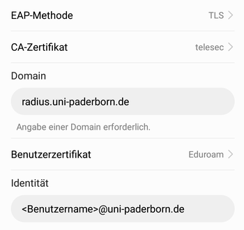 eduroam on Android – IMT HilfeWiki