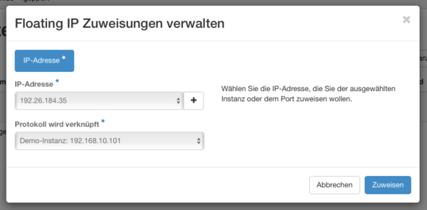 Cloudcomputing 35. Floating IP Zuweisung fertig.png